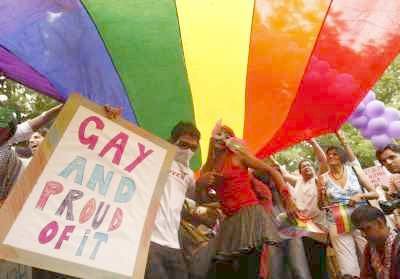 A gay parade in Delhi