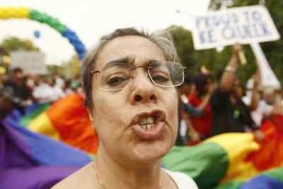 A gay parade in Delhi