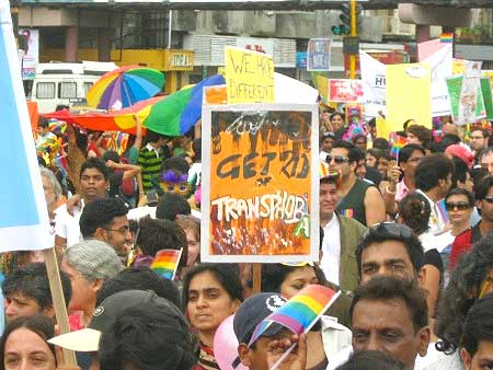 A gay parade in Mumbai