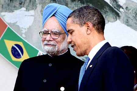 US President Barack Obama with Indian Prime Minister Manmohan Singh