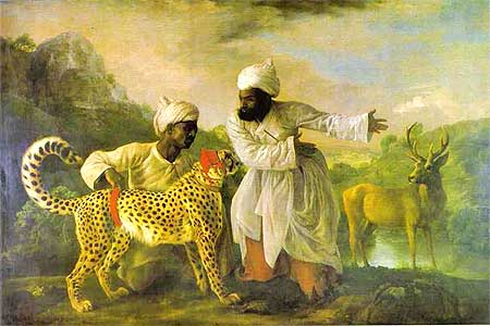 The Governor of Madras, Sir George Pigot presented a cheetah to King George III. The cheetah was taken to Windsor Park outside London in June 1763 to see if it could hunt down an English stag but it caught a deer instead. The cheetah was later housed in the Tower of London