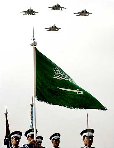 Saudi air force jets fly in formation