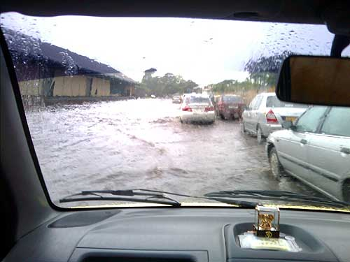 Photo of waterlogging near the Bombay Port Trust in Sewree