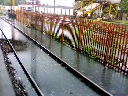 Overnight rains flooded the Mahim station on Tuesday morning