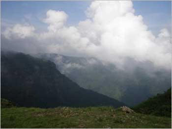 Monsoon clouds over Cherapunjee