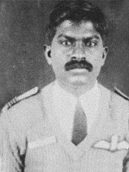 A photograph issued by IAF of Flight Lieutenant Muhilan Subramaniam who was shot down by Pakistani intruders on May 29, 1999