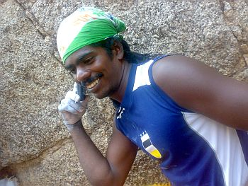 Jyoti Raju aka Desi Spiderman aka Monkey Man