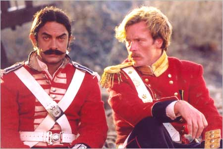 A still from the film <EM>Mangal Pandey</EM>
