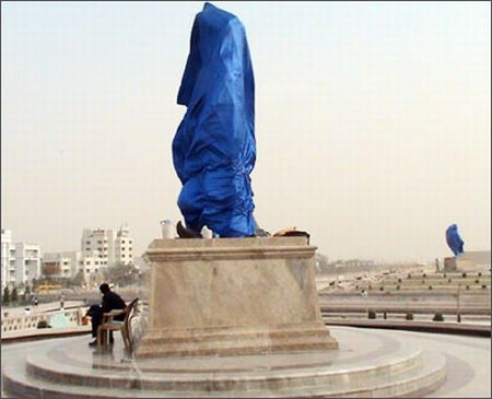Statues of Mayawati, elephants to be draped for UP polls