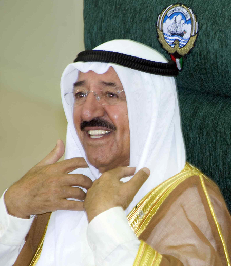 Kuwait's Emir Sheikh Sabah al-Ahmad Al-Sabah during the opening session of the Parliament