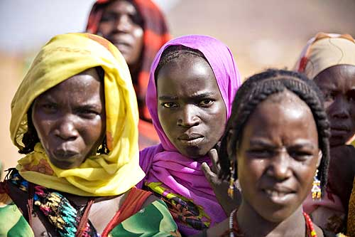 Refugees, who fled the conflict in Sudan's western Darfur region, at the Djabal camp in eastern Chad