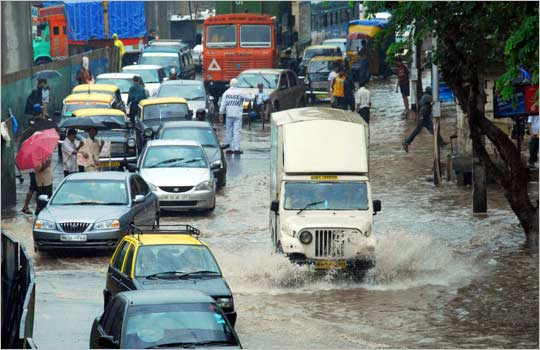 Monsoon also means, water-logging and spending ours in traffic jams!