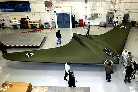 A replica the Ho 2-29 at a Northrop Grumman hangar