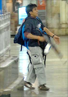 Kasab at CST Station