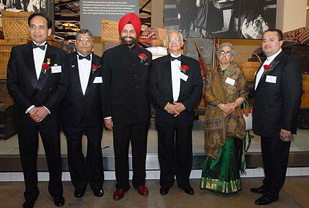 The six winners :Jatin P Shah, Kiran Desai, Sant Singh Chatwal, Shiv C Dass,  Uma Mysorekar, Joseph J Thomas.