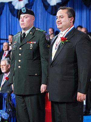Joseph J Thomas at the award ceremony