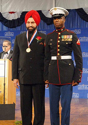 Sant Singh Chatwal at the award ceremony