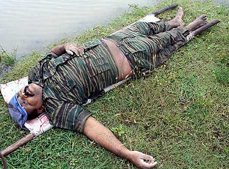 The body of Liberation Tigers of Tamil Eelam leader Vellupillai Prabhakaran