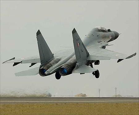 An IAF SU-30 MKI takes off
