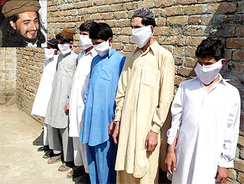 Teenaged boys being trained to become suicide bombers by the Taliban and (inset) Hakimullah Mehsud