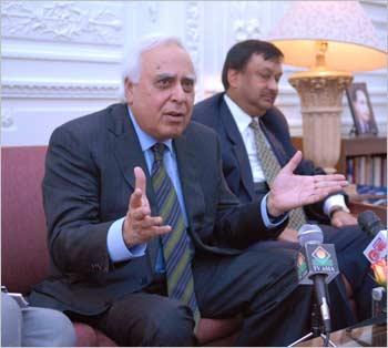 Human Resource Development Minister Kapil Sibal