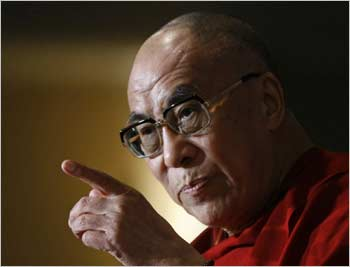 The Dalai Lama, the Tibetan spiritual leader