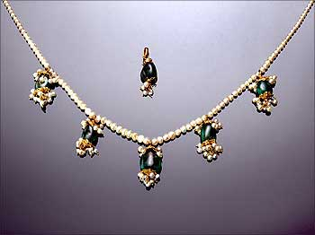 The 19th century necklace that went under the hammer in London.