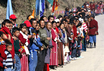 A massive turnout was there to witness Dalai Lama's cavalcade