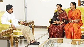 Y S Jaganmohan Reddy, left, with Konda Surekha, extreme right