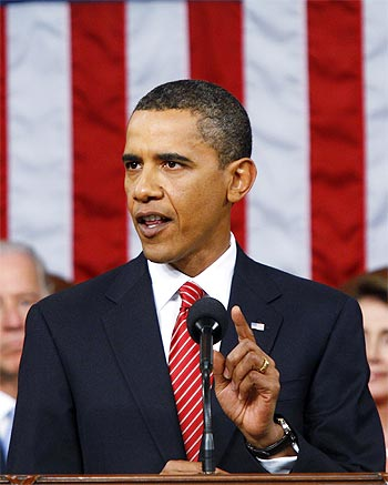 US President Barack Obama delivers a speech in Washington