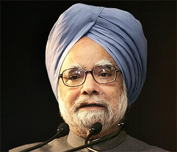 Prime Minister Manmohan Singh speaks during the India Economic Summit 2009 at the World Economic Forum in New Delhi