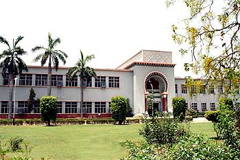 A view of the library on the AMU campus.