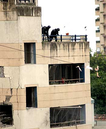 NSG commandos in action at Nariman House