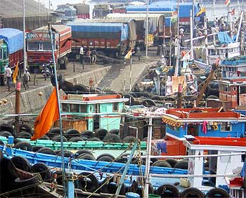 The trawler Kuber that the terrorists hijacked and used to travel to Mumbai