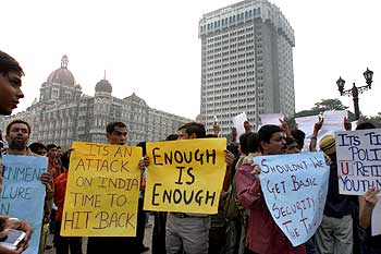 Mumbai citizens protest after 26/11.