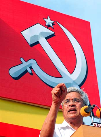 CPI-M General Secretary Prakash Karat during an election rally