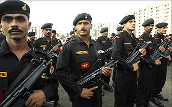 National Security Guard commandos at the opening of their new hub in Mumbai