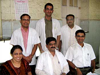 Some of the many doctors at the JJ Hospital, who were on duty during the terror attacks.