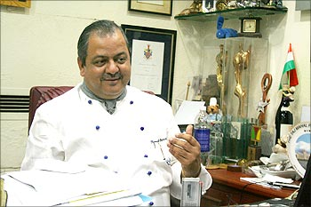 Hemant Oberoi, corporate chef of Hotel Taj Mahal