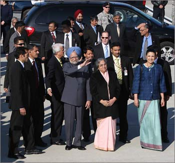 Dr Singh at the Andrews Air Force Base