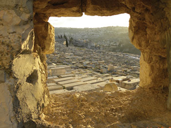 The Jewish cemetery at the Mount of Olives, Jerusalem.
