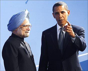 US President Barack Obama with Prime Minister Manmohan Singh.