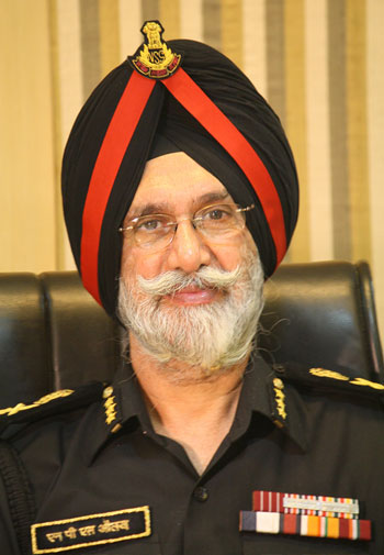 NSG Director General N P S Aulakh at his office in New Delhi.