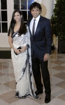 M Night Shyamalan and his wife Bhavna