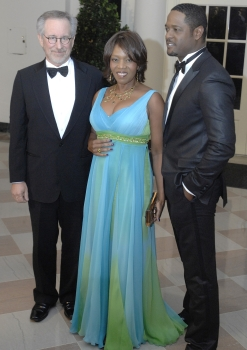 Steven Spielberg, actress Alfre Woodard and actor Blair Underwood