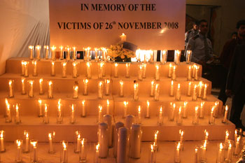 Candles lit in memory of those who lost their lives in the 26/11 attacks