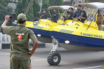 Sealegs, the amphibious marine craft.