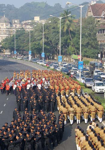 Platoons of Maharashtra State Reserve Police Force and Force One.
