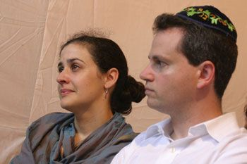 Bernard and his wife Simone, the only couple who got married in the Chabad House