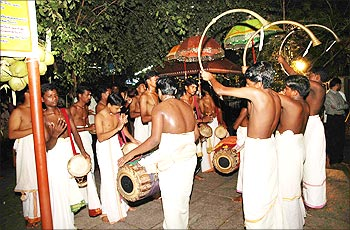 The season of celebration in Sabarimala